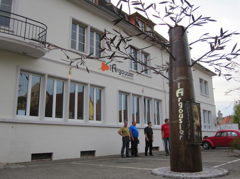 colonne-arbre, menu du restaurant l'Argousier