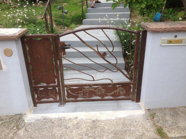 Portillon métallique design